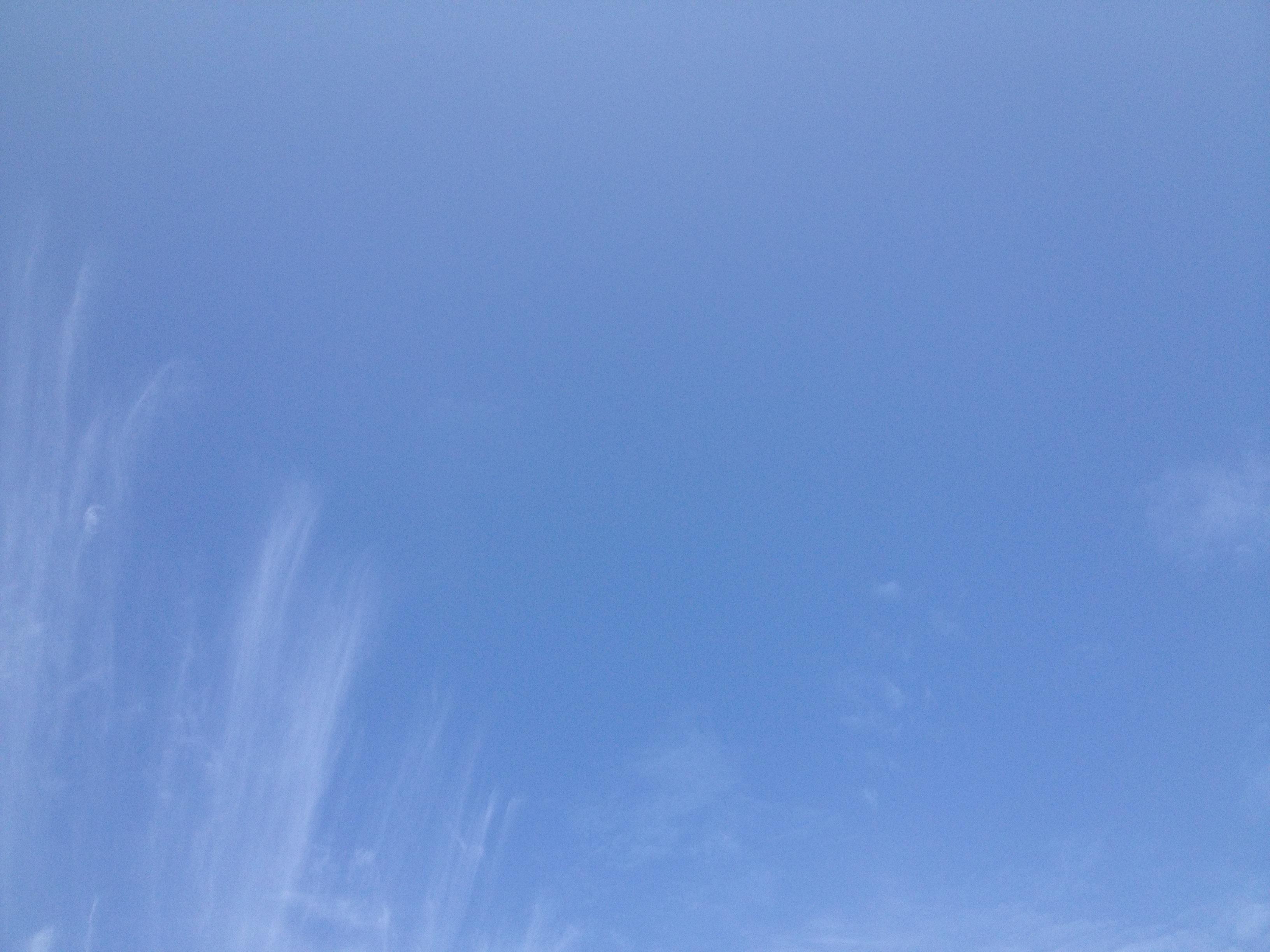 青空のすじ雲