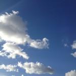 程よい雲と太陽の輝き
