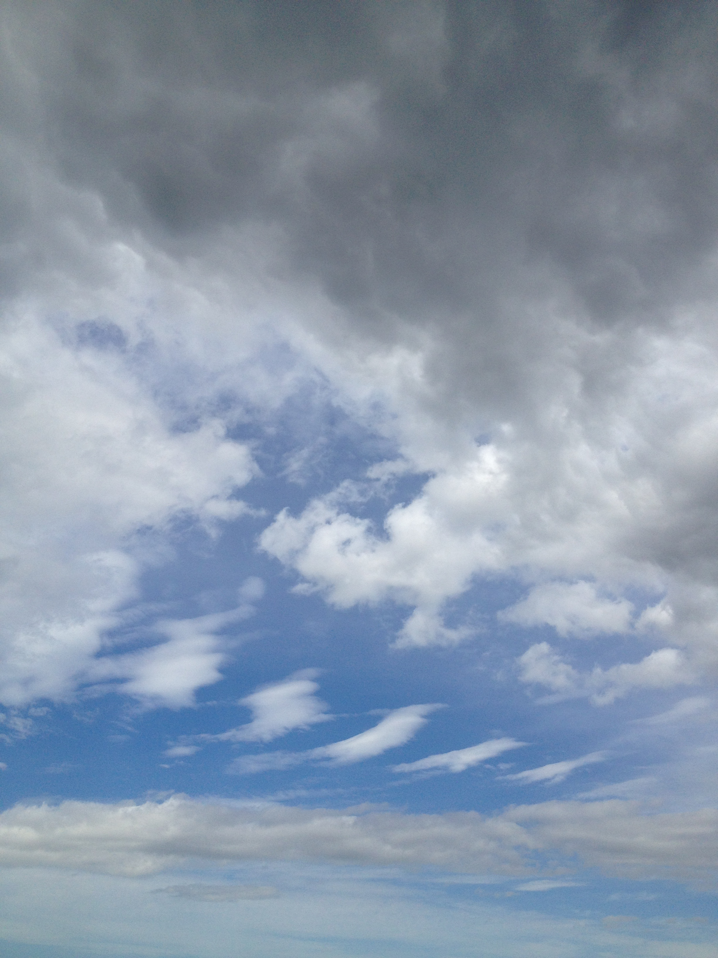 高層雲と積乱雲