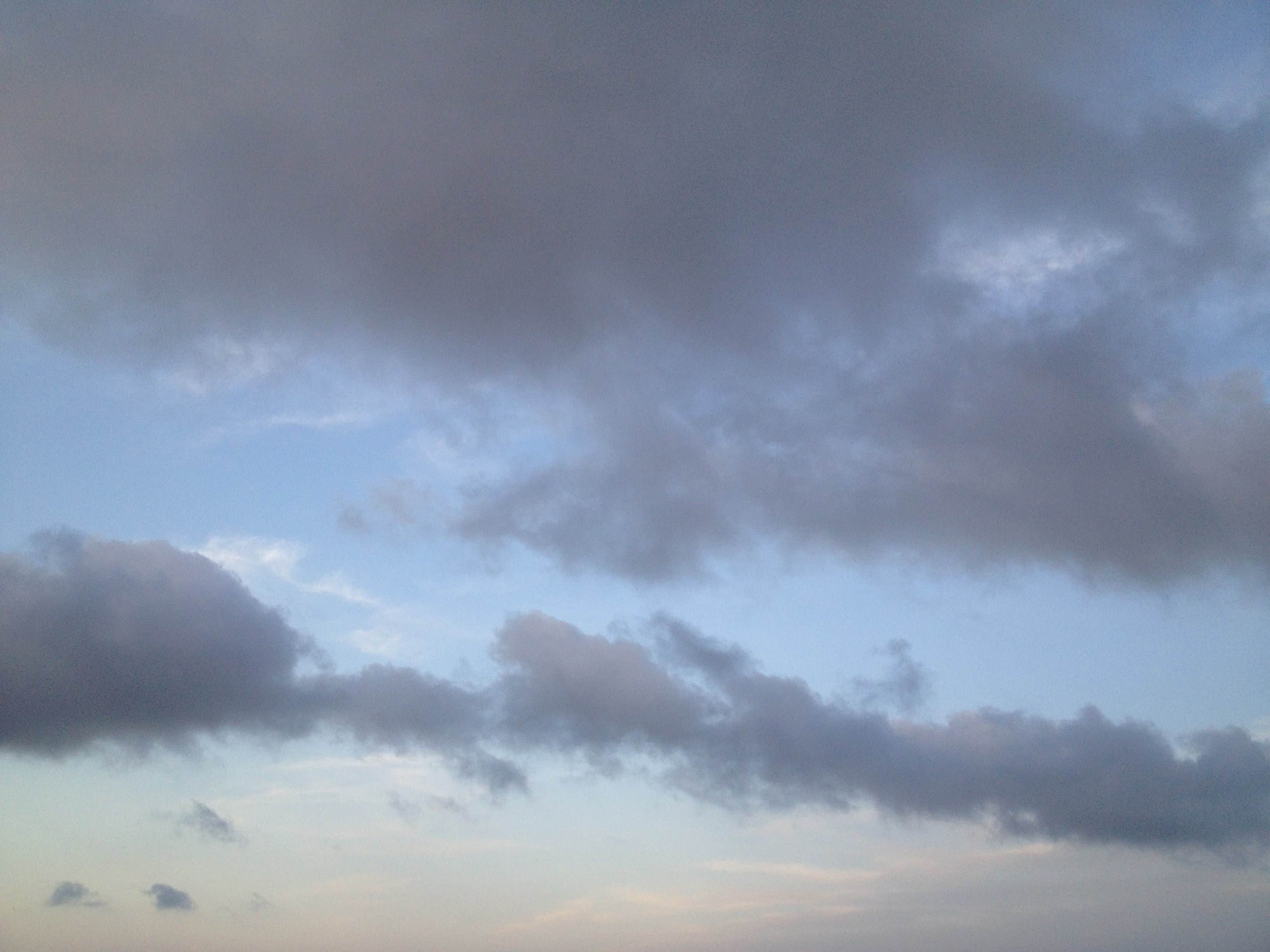 雲と青空と夕焼け