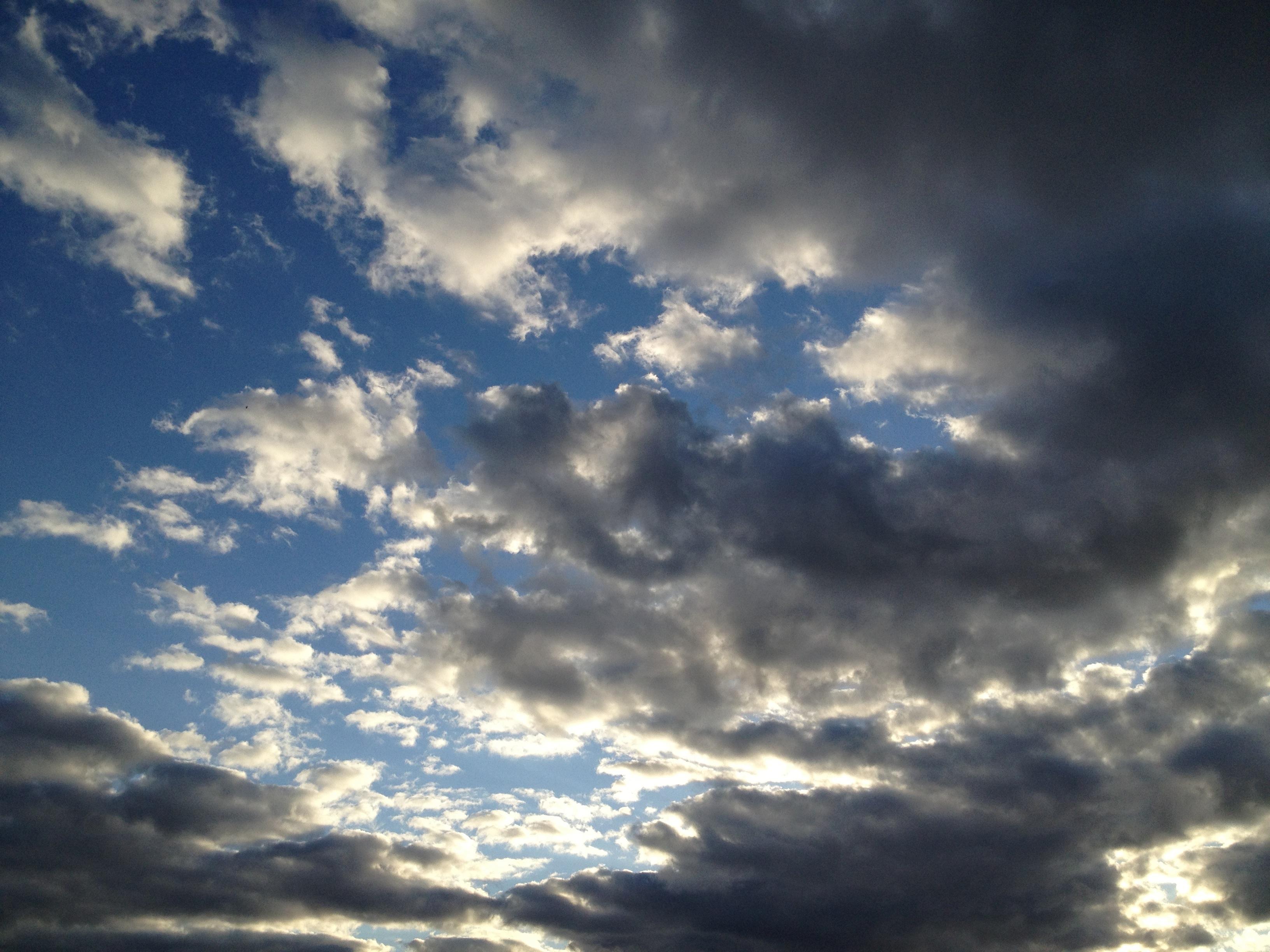 時々見える夕日
